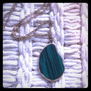 Jade Green Pendant Gold Necklace Forever 21